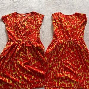 Gap Orange, Yellow, and Pink Animal Print Dress 8